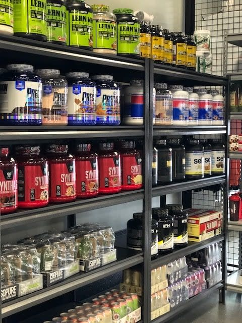 close up of protein supplements - Train Hard Fitness 8180 Oswego Rd. Liverpool, NY 13090 315-409-4764