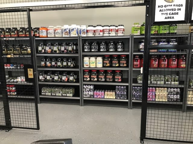 supplement cage - Train Hard Fitness 8180 Oswego Rd. Liverpool, NY 13090 315-409-4764